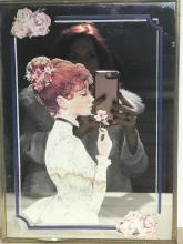 Mirror with woman