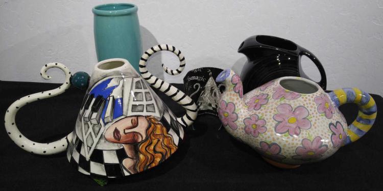 Ceramic Vase Amp Teapot Lot