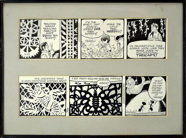Gus Arriola (1917-2008) Original Gordo Daily