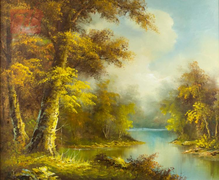 Clara Inness (1874-1932) Autumn Landscape