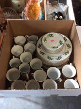 30+ Holly Pattern China Box Lot