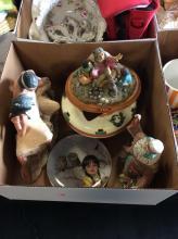 Various Sculpture & Pot Box Lot