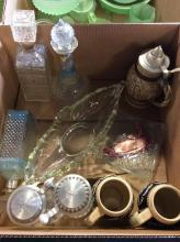 10+ Beer Stein & Decanter Box Lot