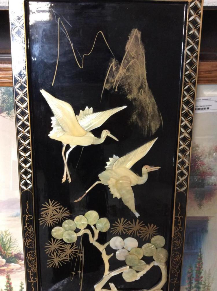 mother of pearl carved asian wall art. Black Bedroom Furniture Sets. Home Design Ideas