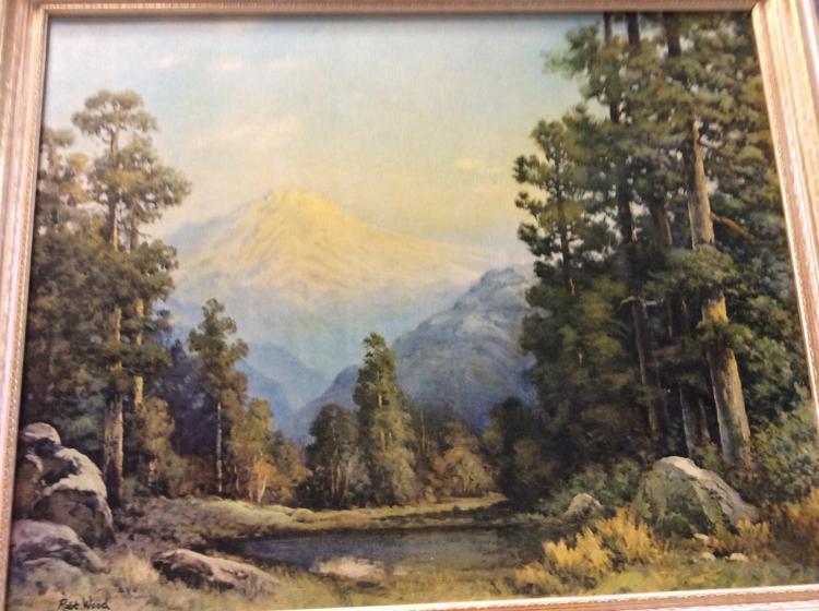 Robert Wood Print On Board Quot Mt Rainier Quot