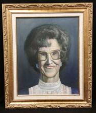 Signed Untitled Womans Portrait Oil on board