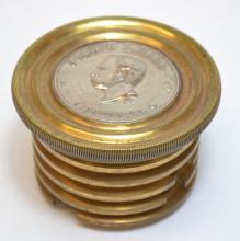 Antique Brass Joseph L. Hall Safe Dial Cincinnati