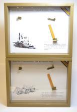 Pair WWI 1911 Colt Commemorative Display Boxes