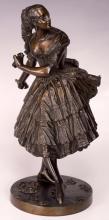 Louis Marie Moris, Dancing Pair Bronze Sculpture