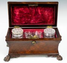 Footed Georgian Tea Caddy c.1790-1830