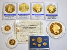 Replica Gold Coin Lot, (1)14K Gold Miniature Coin