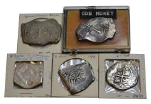 5Pcs. Cob Money, Pieces of Eight Silver Reales