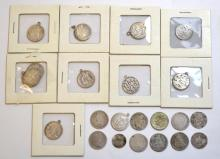 23Pcs. Silver Coins & Tokens