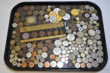 Foreign Coin Lot, Includes Silver
