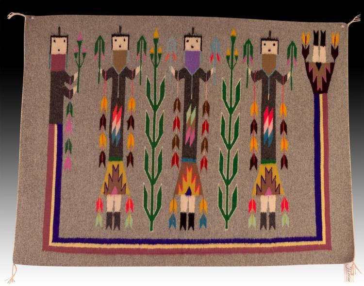 Native American Navajo Yei Rug