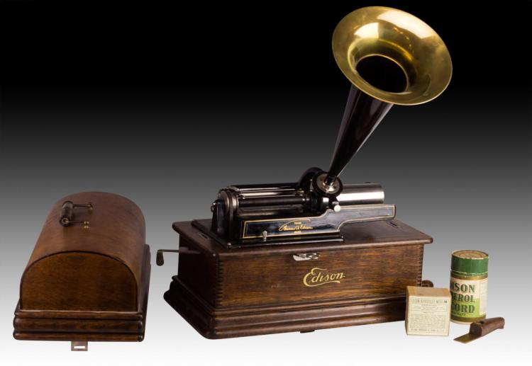 dating edison cylinders This was the top of the line edison horned phonograph of the time it sold for $100 with the matching mahogany music master horn, was fitted with a moldel l saphire reproducer for paying four minute wax amberol records or later the model a diamond reproducer for the celluloid blue amberol cylinders.