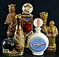 Decanter Figural Bottles, Bear, Bowling, Eastwood,