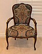 Upholstered Victorian Style Arm Chair