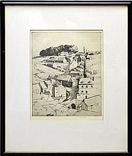 Original Etching, The Hillside by Martin Hardie RE