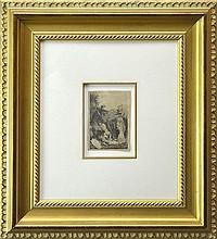 After Rembrandt van Rijn Etching, Hour of Death