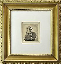 After Rembrandt van Rijn Etching, Portrait in Hat