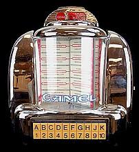 Diner Style Camel Jukebox w/ AM/FM/Cassette