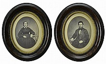 PAIR of Victorian Framed Photographs, Circa 1870's