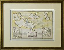 18th Century Map by Rigobert Bonne, Jerusalem