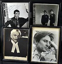 (3) Vintage Autographed Photos (1) Movie Set Photo