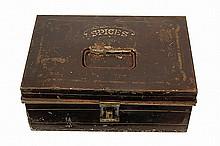 Antique Tin Toleware Spice Box & Containers