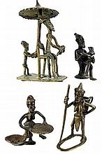 (4) Pieces African Gold Weight Bronze Figures