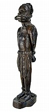 African Carved Ebony Wooden Slave Figure