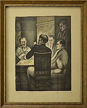 Saul Rabino (1898-1969) Lithograph,
