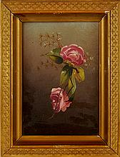 Antique Floral Oil Painting #1