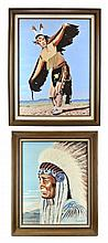 PAIR Native American Oil on Canvas, Gary Slusher