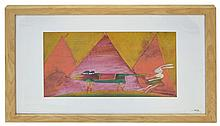 Dwight Harmon Gouache Painting