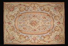 Handmade Embroidered Tapestry/Rug in Brown