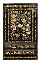 #1 Abalone, MOP & Black Lacquer Inlay Cabinet