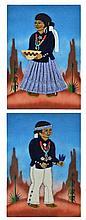 Navajo Folk Art Mixed Media on Canvas, Ann Johnson