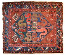 Colorful Wool on Wool Hand Woven Oriental Rug