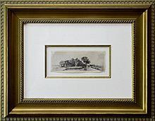After Rembrandt van Rijn Etching, Landscape