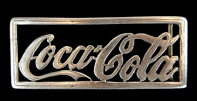 Edward H Bohlin Sterling Coca-Cola Buckle
