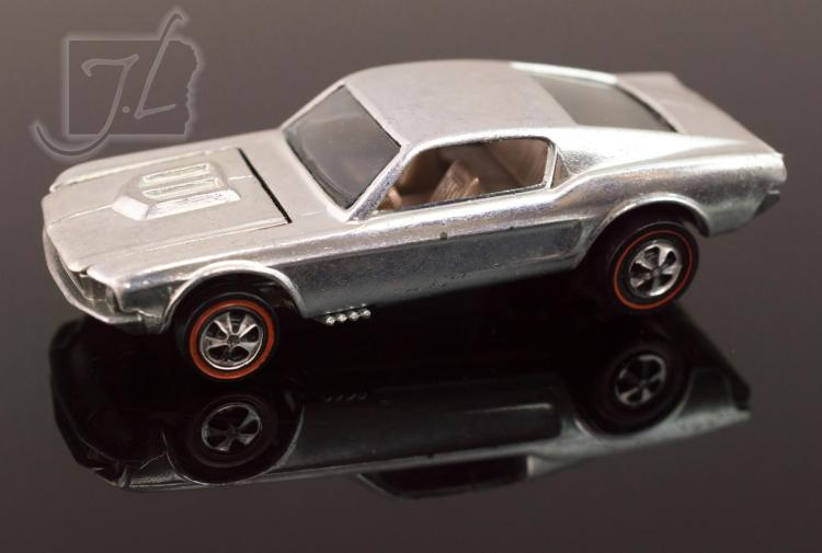 No Paint 1968 Hot Wheels Redlines Custom Mustang