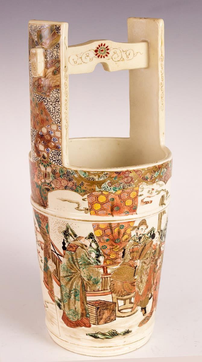 Japanese Satsuma Bucket Form Vessel