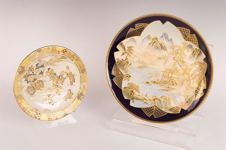 Two Japanese Satsuma Dishes