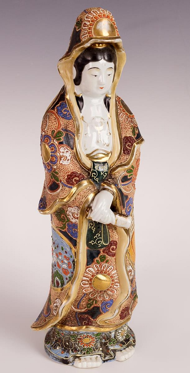 Japanese Kutani Porcelain Kannon Figure