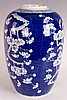 Chinese Late Qing Dynasty Blue and White Porcelain Jar