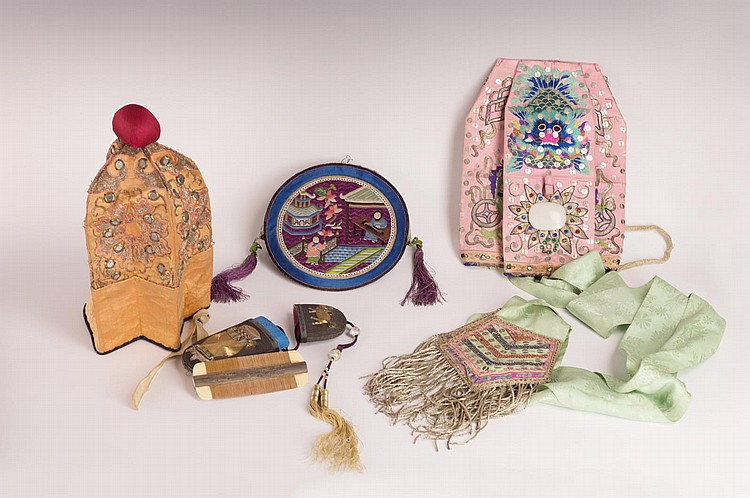 Group of Chinese Textiles & Clothing Accessories
