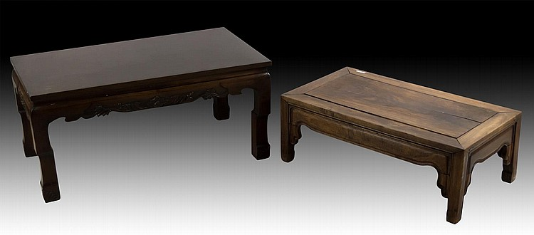 Two Chinese Wood Rectangular Tables