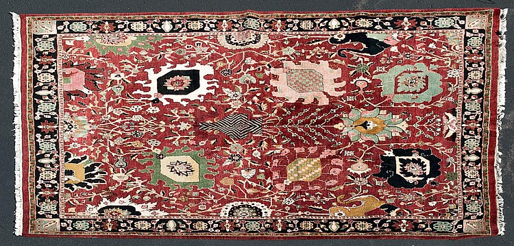 Hand Woven Persian Rug w/ Floral Design